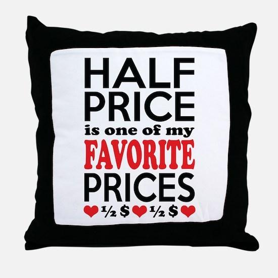 Funny Bargain Hunter Mega Shopper Throw Pillow
