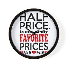 Funny Bargain Hunter Mega Shopper Wall Clock