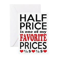 Funny Bargain Hunter Mega Shopper Greeting Cards