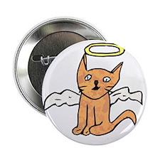 "Angel Cat 2.25"" Button"