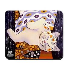 Klimt Kitty Mousepad