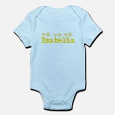 Yellow Isabella Name Body Suit