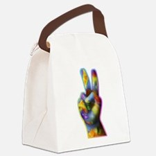 Peace and Kindness Canvas Lunch Bag
