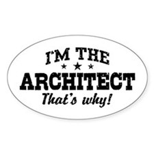 Funny Architect Decal