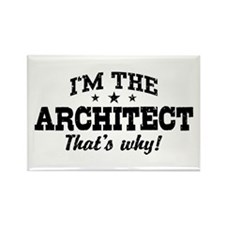 Funny Architect Rectangle Magnet