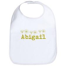 Yellow Abigail Name Bib