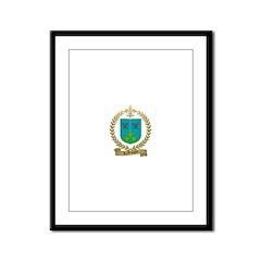 LAROCQUE Family Crest Framed Panel Print
