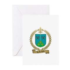 LAROCQUE Family Crest Greeting Cards (Pk of 10