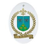 LAROCQUE Family Crest Oval Ornament