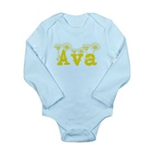 Yellow Ava Name Body Suit