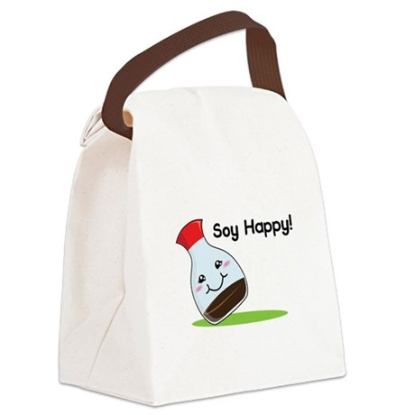 Soy Happy Canvas Lunch Bag