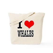 I Heart (Love) Whales Tote Bag