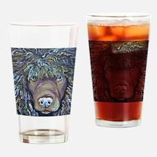 Cute Irish water spaniel Drinking Glass