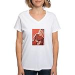Vintage Knitter Women's V-Neck T-Shirt