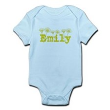Yellow Emily Name Body Suit