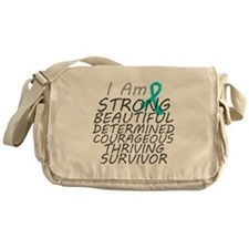 Peritoneal Cancer Strong Survivor Messenger Bag