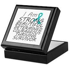 Peritoneal Cancer Strong Survivor Keepsake Box