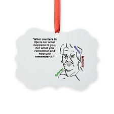 Gabriel Garcia Marquez quote Ornament