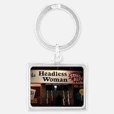 Headless Woman Landscape Keychain