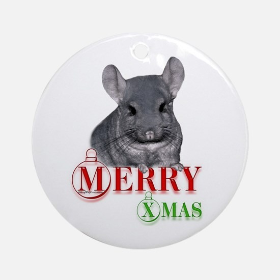 Chin Merry XMas Ornament (Round)