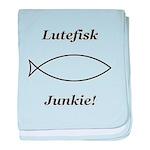 Lutefisk Junkie baby blanket