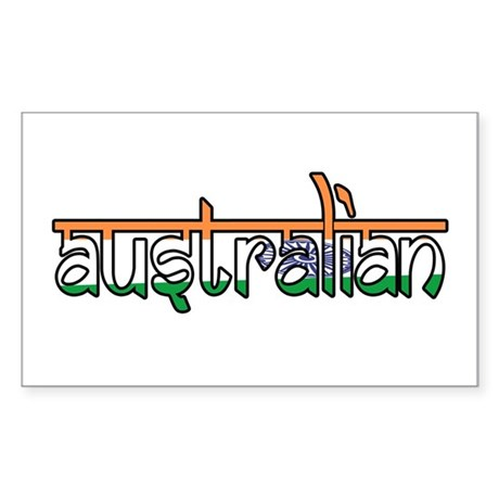 Australian Rectangle Sticker