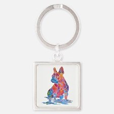 Best French Bulldog Gifts Square Keychain