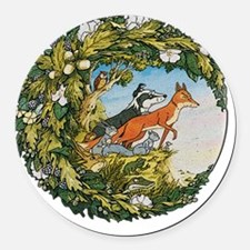 The Animals Of Farthing Wood Round Car Magnet