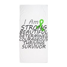 Lymphoma Strong Survivor Beach Towel