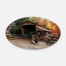 Lantermans Mill Bridge Oval Car Magnet