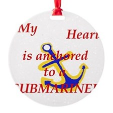 Heart anchored Ornament