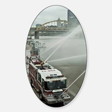 Firetrucks pumping in Pittsburgh Decal