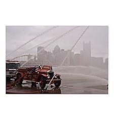 Antique Firetruck pumper  Postcards (Package of 8)