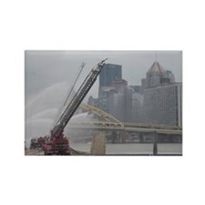Ladder truck Three Rivers Pittsbu Rectangle Magnet
