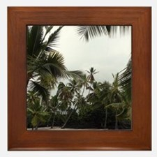 Palms in the Sand Framed Tile