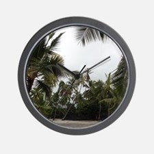 Palms in the Sand Wall Clock