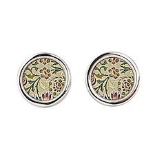 William Morris, Brocade, vintage floral  Cufflinks