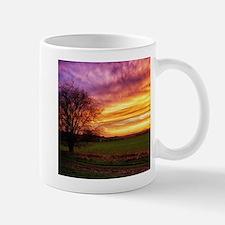 Rural Sunset Burst Mugs