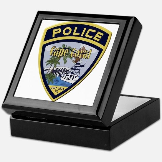 Cape Coral Police Keepsake Box
