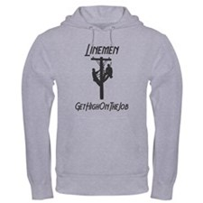 Linemen Get High On The Job Hoodie