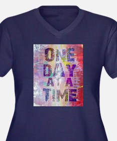 One Day At A Time Abstract Paint Colors Plus Size