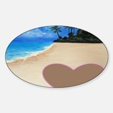 Beachy Valentine Sticker (Oval)