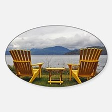 Yellow deck chairs Decal