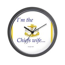 Chiefs wife Wall Clock
