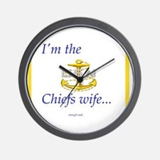 Chiefs wife Wall Clock