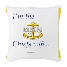 Chiefs wife Woven Throw Pillow