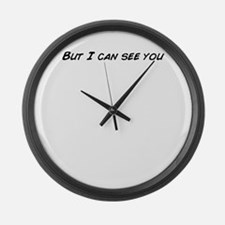 Can you see through Large Wall Clock