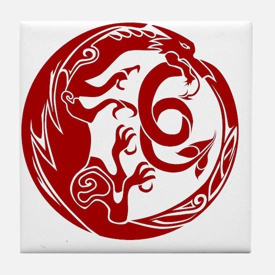 Welsh Dragon Tile Coaster