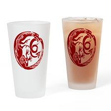 Welsh Dragon Drinking Glass