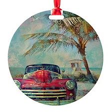 Vintage Beach Ornament